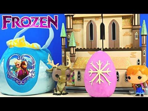 FROZEN SURPRISE BASKET - Shopkins Play Doh Kinder Eggs Disney Princess Barbie Peppa Pig MLP
