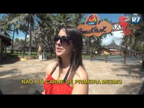Bastidores: Juju Salimeni é desafiada a encarar toboágua de 41 metros de altura