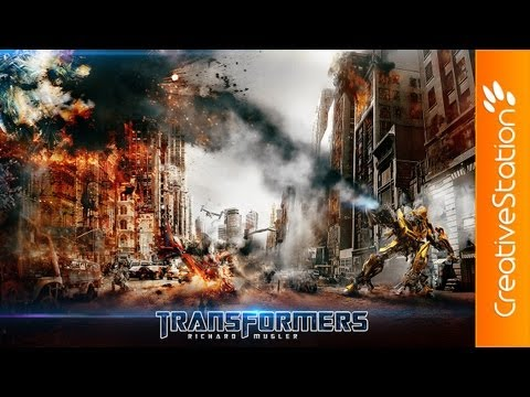 Transformers - Speed art ( #Photoshop ) | CreativeStation