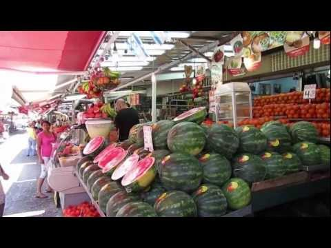 Israel,Tel Aviv -Video Travel Guide- HaCarmel Market