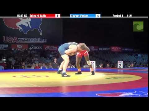 86 KG SF - Edward Ruth (NLWC) vs. Clayton Foster (GRIT/CWC)