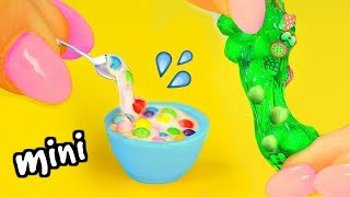 DIY Mini Slimes! How To Make Miniature Jelly Cube Slime, Cereal Slime, Cloud Slime & Glitter Slime!
