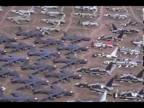 Sức Mạnh Quân Sự Mỹ- xem nghĩa địa máy bay khủng của Mỹ