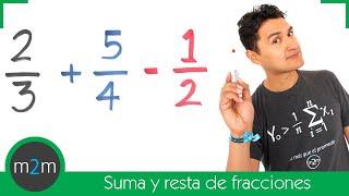 Suma y resta de fracciones con diferente denominador