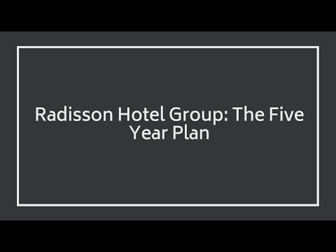 Chema Basterrechea, COO at Radisson Hotel Group EMEA The Five Year Plan   Radisson Hotel Group