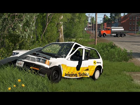Student Driver Fails & Crashes 10   BeamNG.drive