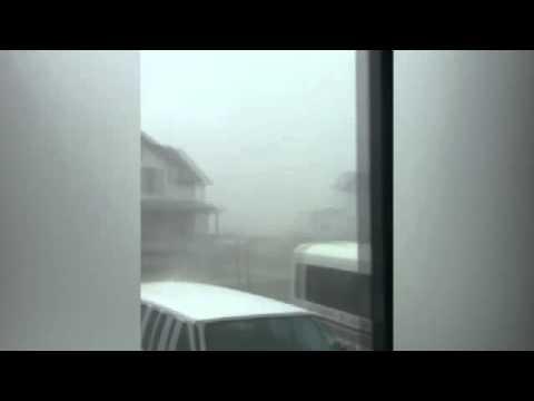 FIRST VIDEO: of Hurricane Arthur