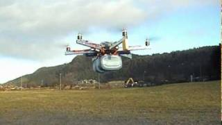 Heavy-Lift HexaCopter Fast Forward Flight With 4kg Payload
