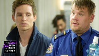 James Corden and Eddie Redmayne in funny sketch
