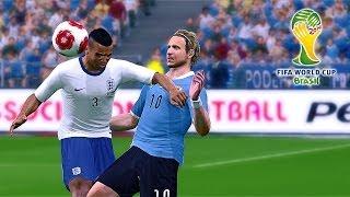 PES 2014 Brazil 2014 Simulation England Vs. Uruguay
