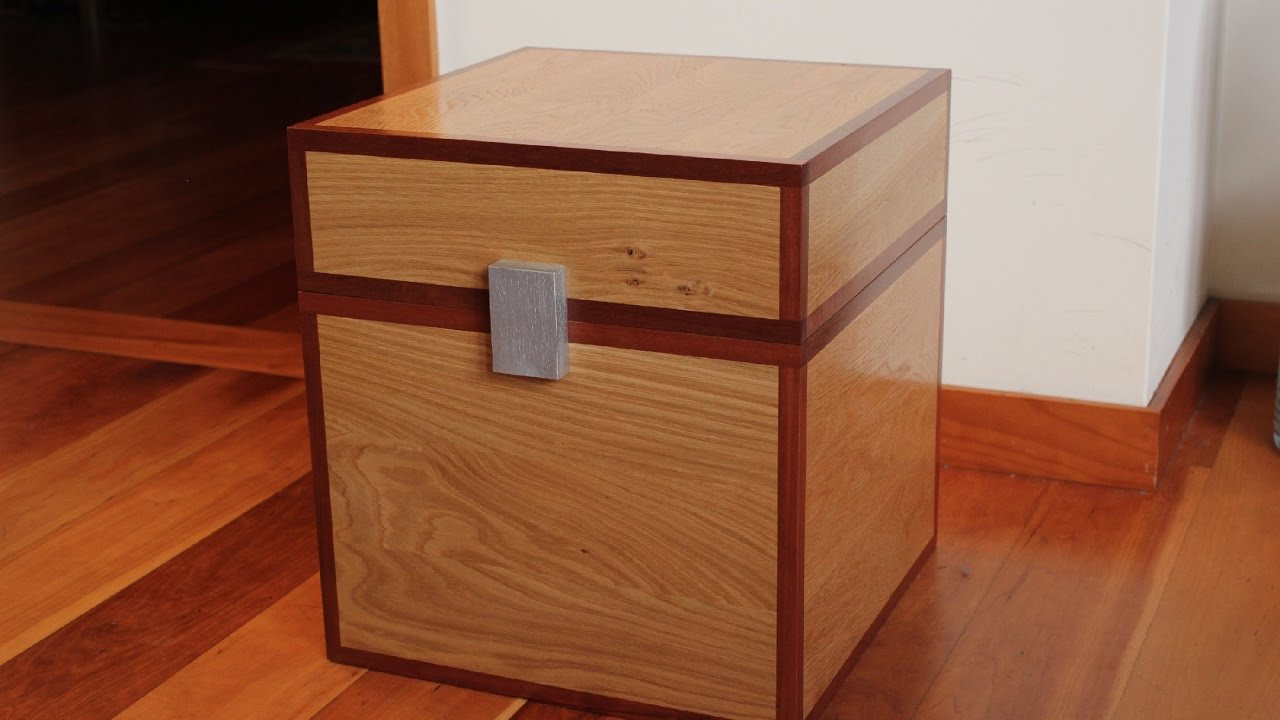 How to make a Minecraft chest in real wood - Minecraft Toys Box ...