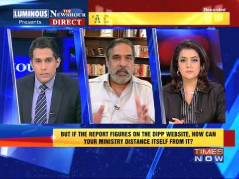 The Newshour Direct: Anand Sharma (7th May 2014)