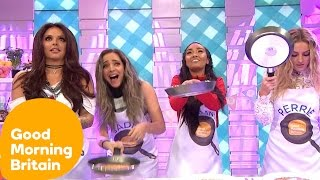 Little Mix Get Competitive In A Pancake Decoration Challenge | Good Morning Britain
