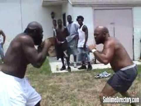 kimbo slice vs big bird street fight hq youtube