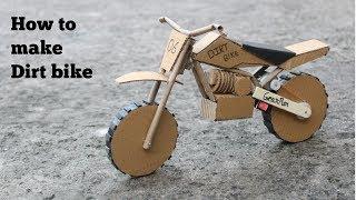 How to make cardboard Dirt bike at very simple