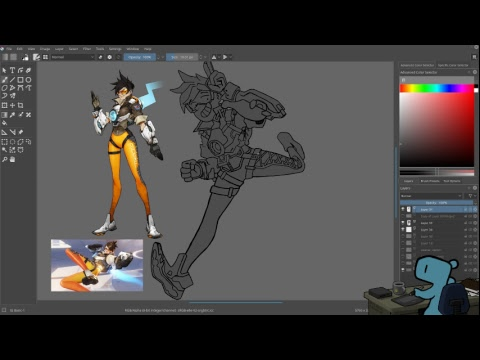 Drawing some Overwatch fanart - Tracer