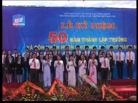THPT Quỳnh Côi - lễ kỷ niệm 50 năm thành lập trường part 6/8