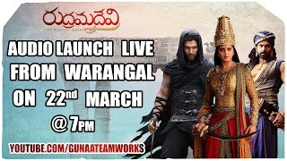 Rudhramadevi Audio Launch-2 – LIVE From Warangal
