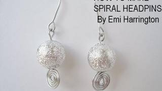JEWELRY MAKING, How To Make A Spiral Headpin.