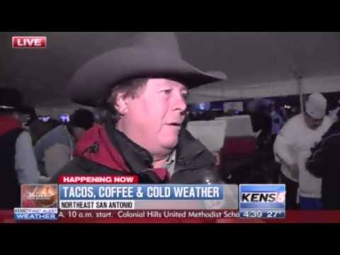 Cowboy Breakfast buckles down and goes on despite the icy weather