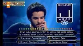 Kim Milyoner Olmak ister 209 bölüm Bilgehan Ağaçcıoğlu 24.04.2013