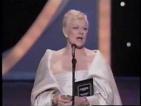Judi Dench wins 1999 Tony Award for Best Actress in a Play