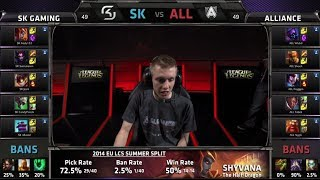 SK Gaming Vs Alliance S4 EU LCS Summer 2014 Week 5 Day 1