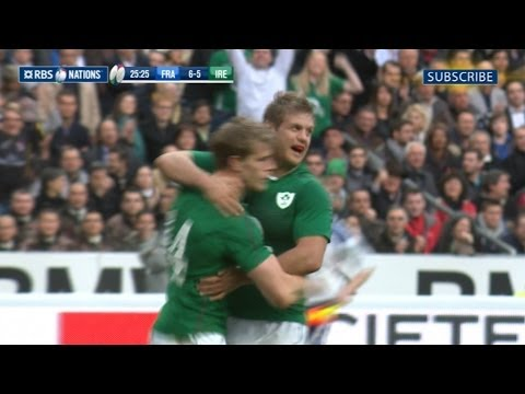 France v Ireland - First Half Highlights 15th March 2014