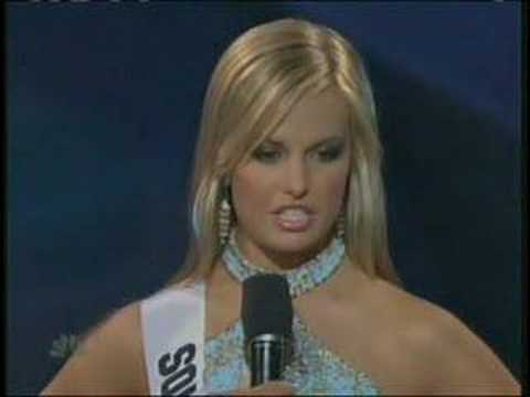Thumbnail image for 'Miss Teen USA 2007 - South Carolina answers a question'