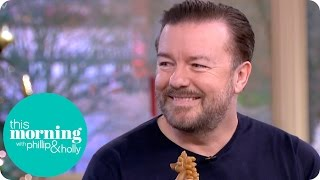 Ricky Gervais Has Holly and Phillip in Stitches and Goes Gaga Over Luna the Dog   This Morning