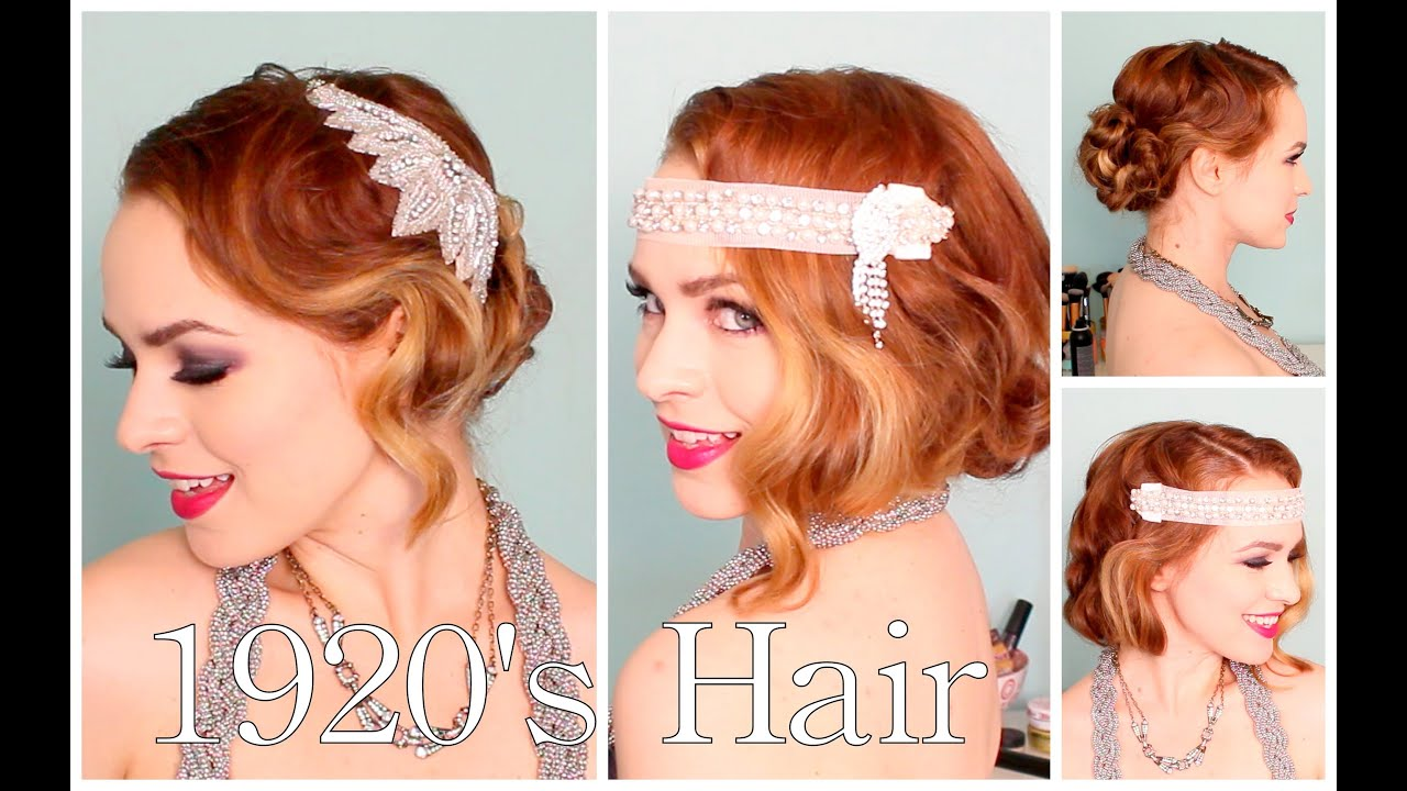 1920's Faux Bob, and Updo Tutorial!! - YouTube