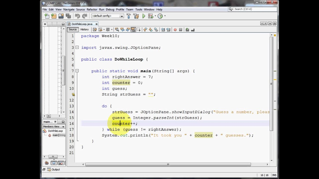 Java - DO WHILE loops - YouTube