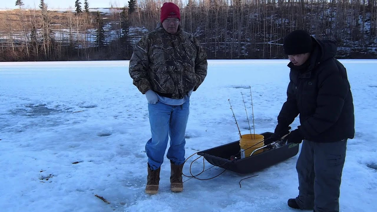 Alaska ice fishing matanuska lake palmer youtube for Ice fishing videos on youtube