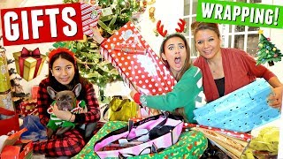 WRAP GIFTS WITH ME! Christmas presents I got for my family | Vlogmas Day 1
