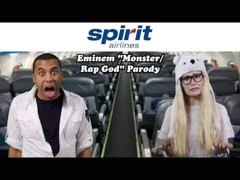 "Spirit Airlines Song (Eminem ""THE MONSTER"" & ""RAP GOD"" Parody)"