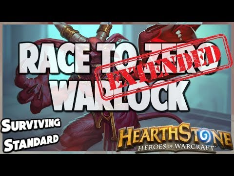 Race to Zero Warlock | Extended Gameplay | Hearthstone | Kobolds and Catacombs