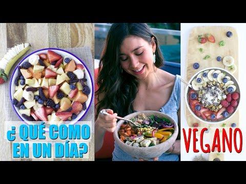Lo Que Como en un Dia! Desayuno, Comida y Cena Vegano y Saludable