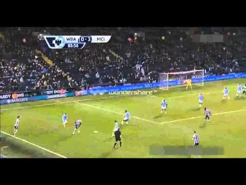 West Bromwich Albion 2 - 3 Manchester City - England - Premier League - Full Highlights - 4.12.13
