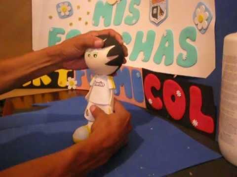 Fofucho Futbolista Real Madrid muñecos en foami Goma-eva Termoformados (Foamy dolls)Artfoamicol.AVI