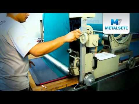Máquina de Enfestar Tecido - Malha Tubular - Metalsete