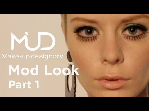 1960's Twiggy Makeup Tutorial - Part 1
