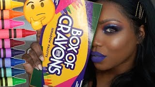 BOX OF CRAYONS EYESHADOW PALETTE | Hot or HYPED ?!? 🧐