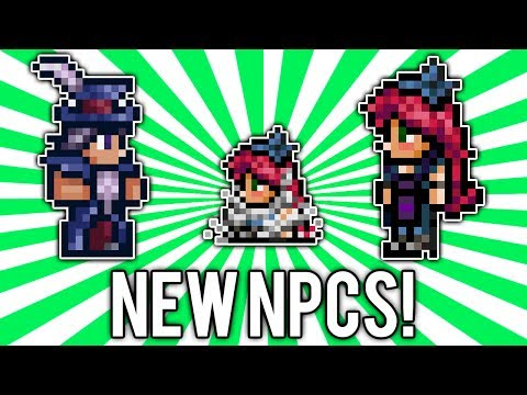 Terraria 1.2.3: Traveling Merchant & Stylist NPCs! (NEW, Change Hair Color!)
