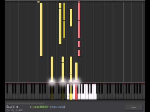 Synthesia - Epona's song ( Lon Lon Ranch ) Piano Lesson/Tutorial