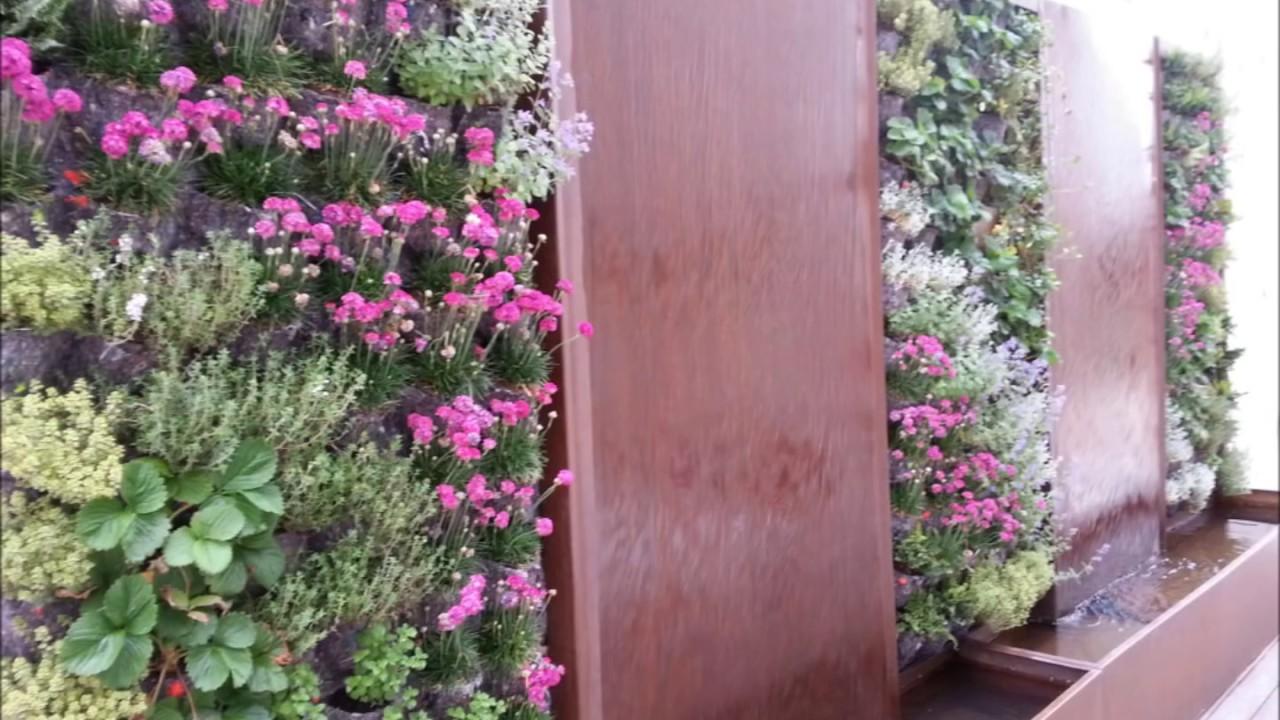 Fuente de acero corten y jardin vertical youtube - Fuente para jardin ...