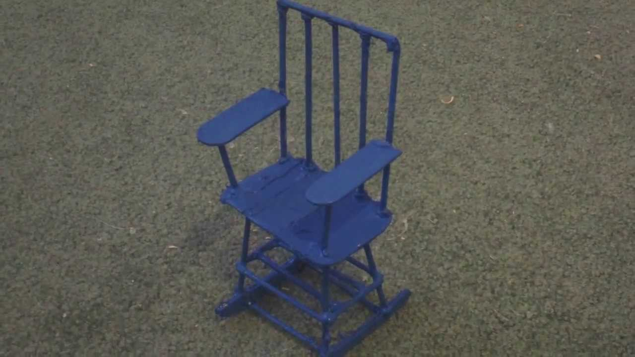 How to make a wooden doll rocking chair youtube for Small wooden rocking chair for crafts