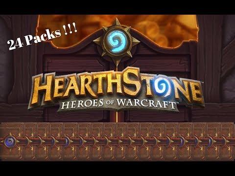 Hearthstone Pack opening !! *Golden Legendary*
