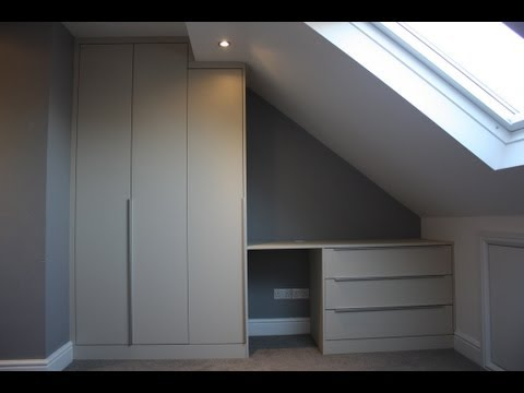 Fitted Wardrobe Built In Sloping Loft Bedroom