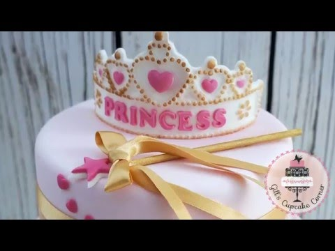 Katy Sue PRINCESS TIARA Banner silicone icing mould