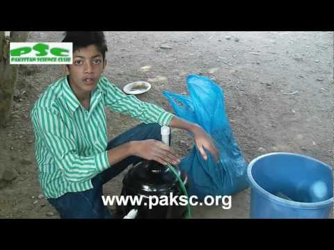Mini Biogas Plant (Anaerobic Digester) Construction (Urdu) Part 2/3
